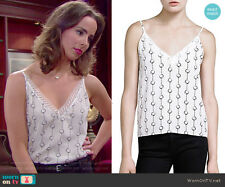 NWT- The Kooples Handcuff Print Silk Camisole Size 1 Retail $195