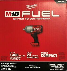 Milwaukee 2767-20 M18 1/2 High Torque Impact w/ friction ring NIB 2 DAY SHIP