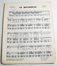 Partition vintage sheet music FRANCIS LAI : Le Batisseur * 60's