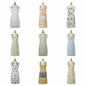 COOKSMART COTTON APRON DRESS WITH POCKET PATTERN WOMEN COOKING BAKING CHEF GIFT