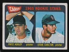 1965 TOPPS STEVE CARLTON  VG/EX  ST. LOUIS CARDINALS  #477 ROOKIE, WELL CENTERED