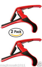 2-PACK Clamp Key Trigger Capo For Acoustic Electric Guitar GCAP8-RED-Q2