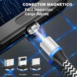 Cable Magnetico USB Iman Carga Rapida Conector Movil SmartPhone Micro Tipo C IOS
