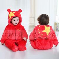 Baby Infant Romper Snowsuit Boy Girls Bodysuit Jumpsuits Cloth Warm Outfit Xmas