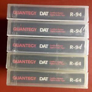 DAT tapes 5 Quantegy Professional Studio Series R-94 new in original cellophane
