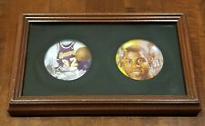 Magic Johnson 1991 & 1992 LA Lakers NBA Set of 2 Framed Mini Collector's Plates