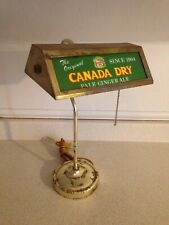 Vintage 1950's Or 60's Canada Dry Pale Ginger Ale Bankers Style Desk Lamp, RARE