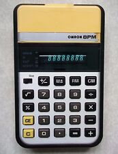 OMRON 8PM ELECTRONIC CALCULATOR VINTAGE RETRO 1970s 1980s                WORKING
