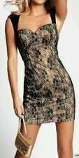 GUESS  CAP SLEEVE LACE WITH VELVET DRESS SZ: 6