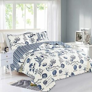 Great Bay Home 3 Piece Quilt Set with Shams. Soft All-Season Microfiber Bedsprea