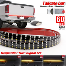 "Truck Tailgate Strip 60"" TRIPLE LED Sequential Turn Signal-Brake-Reverse Light"