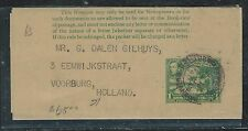 BRITISH GUIANA (PP1906B) 1C PS WRAPPER 1940 TO HOLLAND