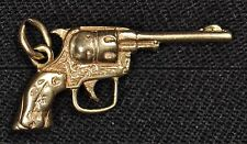 10k Yellow Gold Antique Revolver Pendant - Gently Used - J-29A