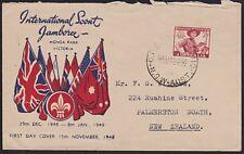 Australia 1948 Scout Jamboree commem Fdc.3725