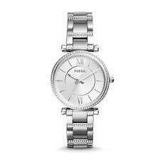 FOSSIL ES4341 Carlie Crystal Silver Three-Hand Stainless Steel 35mm Ladies Watch