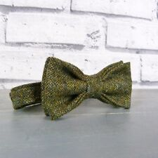 Boys Tweed Bow Tie - Dark Green Birdseye