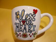 Our Name Is Mud - Bless Your Heart  - Mug by Laurie Vessey -  HEART SHAPE