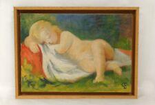 HSP paysage enfant endormi couverture Victor Dupont XXème siècle