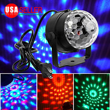 1 x Stage Lighting RGB LED Crystal Magic Ball Effect Light DJ XMAS Party Show US
