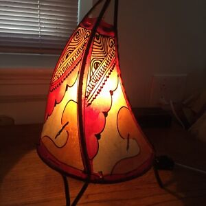 Vintage  Decorative Hand Made Table Lamp from Morocco