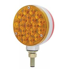 42 LED Double Face Turn Signal - Amber/Red   Semi Truck Fender