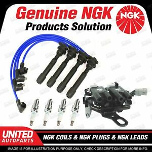 NGK Spark Plugs Coils Leads Kit for Hyundai Tucson 2.0L 4Cyl 2007-2010