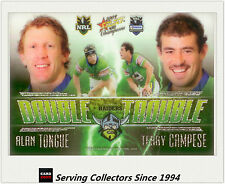 2009 Select NRL Champions Double Trouble Acetate Card DT4 Tongue/Campese-Rare