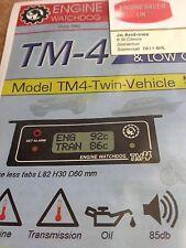 Temperatura de motor audible & baja presión de aceite, alarma TM4-sensor De Doble