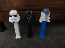 STAR WARS...3 PEZ Dispensers....Stormtrooper, Darth Vader & R2D2