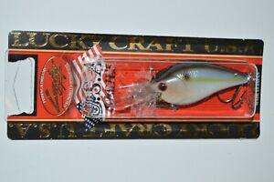 "lucky craft lc 1.5dd rt 2 2/5"" 1/2oz bass crankbait pearl threadfin shad"