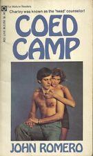 Coed Camp John Romero 1974 GGA Adult Vintage Paperback Very Good