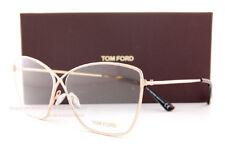 New Tom Ford Eyeglass Frames FT 5518/V 028 Gold For Women 57mm