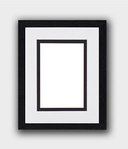 Black Photo Picture Frame Poster Frame With Double Mounts White Double Insert