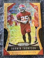 2019 Panini Prizm DARWIN THOMPSON RC Gold Laser Refractor NFL Orange Chiefs