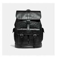 c8c5a24b3 Coach Hudson Signature Black Leather Traveler Backpack F50053 QB/BK BRAND  NEW