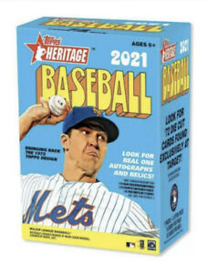 ✅🔥⚾️2021 MLB Topps Heritage Blaster Box Baseball - NEW SEALED SHIPS TODAY