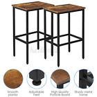 Set of 2 Vintage Bar Stool Industrial Adjustable Wood Metal Design Pub Chairs US