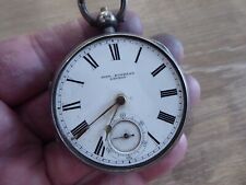 Gents Fusee Pocket Watch C1892. Working London John Forrest Antique Solid Silver