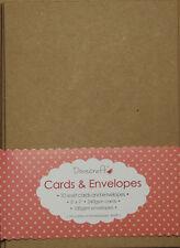 "10 x 5""x7"" Recycled Kraft Card Blanks + Envelopes Natural Brown Buff (Christmas)"