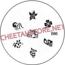 Stamping plaque pochoir B86 pour vernis Konad nail art