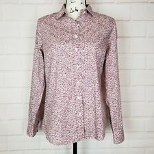 J. Crew Liberty Art Fabrics Floral Print Button Down Top Blouse Shirt Size 6