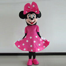 Big Flower Minnie 4 Lovely Girl Pink Bow Mouse Custom Mascot Costume Fancy Dress