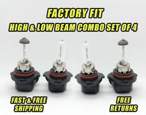Stock Fit Halogen Headlight For Saturn LS 2000 Low and High Beam Set of 4