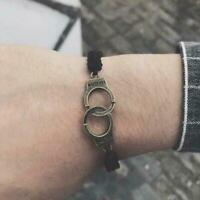 Men Women's Fashion Leather Cute Cross Charm Bracelet Jewelry Gift R5N3