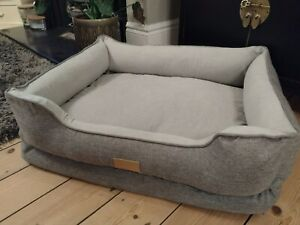 Grey Luxury Dog bed brand new sealed in box