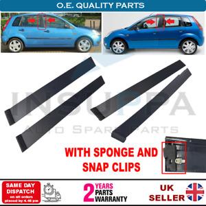 4X Door Pillar Moulding Trim Set For Ford Fiesta V MK5 2001-2008 4/5 Doors