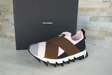 Dolce & Gabbana 37 Sneakers Slipper Slip-Ons Schuhe mehrfarbig neu ehem UVP 395€