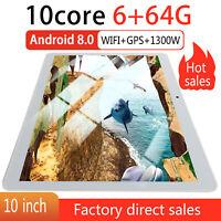 "10.1"" Tablet PC Android8.0 10 Core 3G Dual SIM Camera 4GB/64GB GPS OTG Phablet"