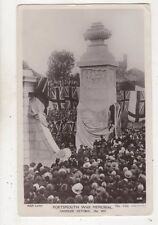 Portsmouth War Memorial Unveiled 19 Oct 1931 RP Postcard 650b