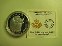 2014 Proof $20 The Bison #1-Portrait Canada .9999 silver COIN&COA ONLY twenty do